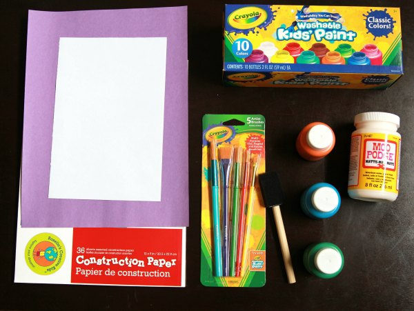 Supplies for Hooked on Papa Painting