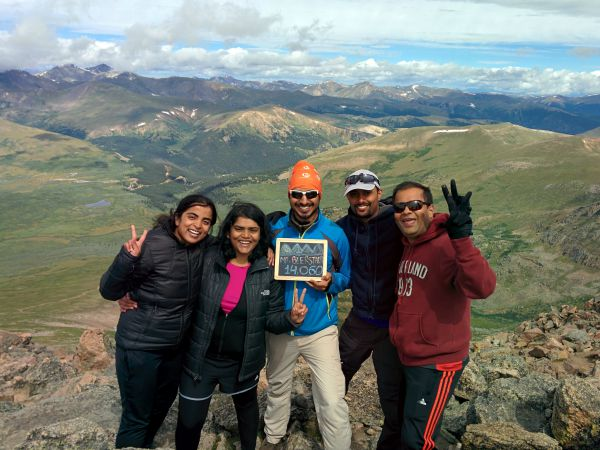 Group members for out First 14er Hike to Mt. Bierstadt