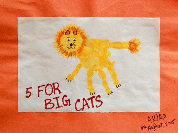 Handprint Lion >> Handprint Lion Keepsake Craft 5 For Big Cats