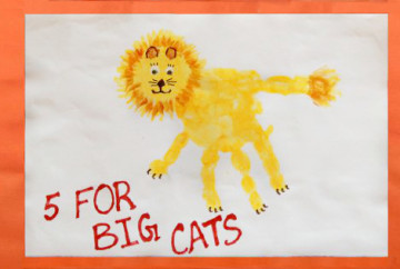 Cover Picture for Handprint Lion Keepsake - 5 for Big Cats!