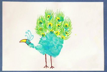 Cover Picture for Handprint Peacock Art ~15th August