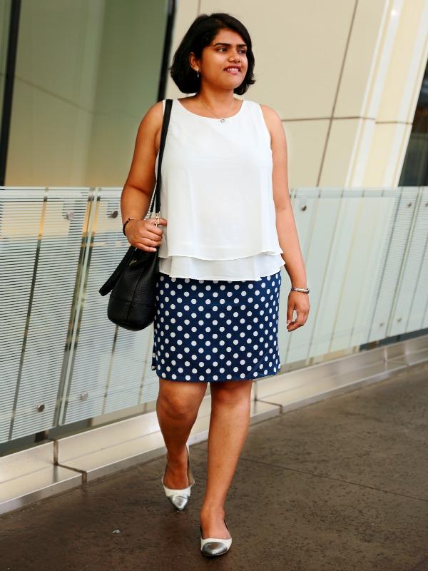 Ann Taylor Crepe Polka Dot Skirt