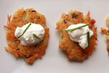 Easy Potato Latkes with No Eggs and only one required ingredient!