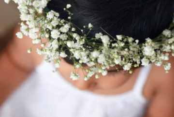 DIY Baby's Breath Flower Crown not only do make for a great photo prop, they are also good for summer or garden parties or even as a return gift.