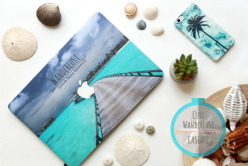 Cure wanderlust with Caseapp with custom laptop skin and custom iPhone case.